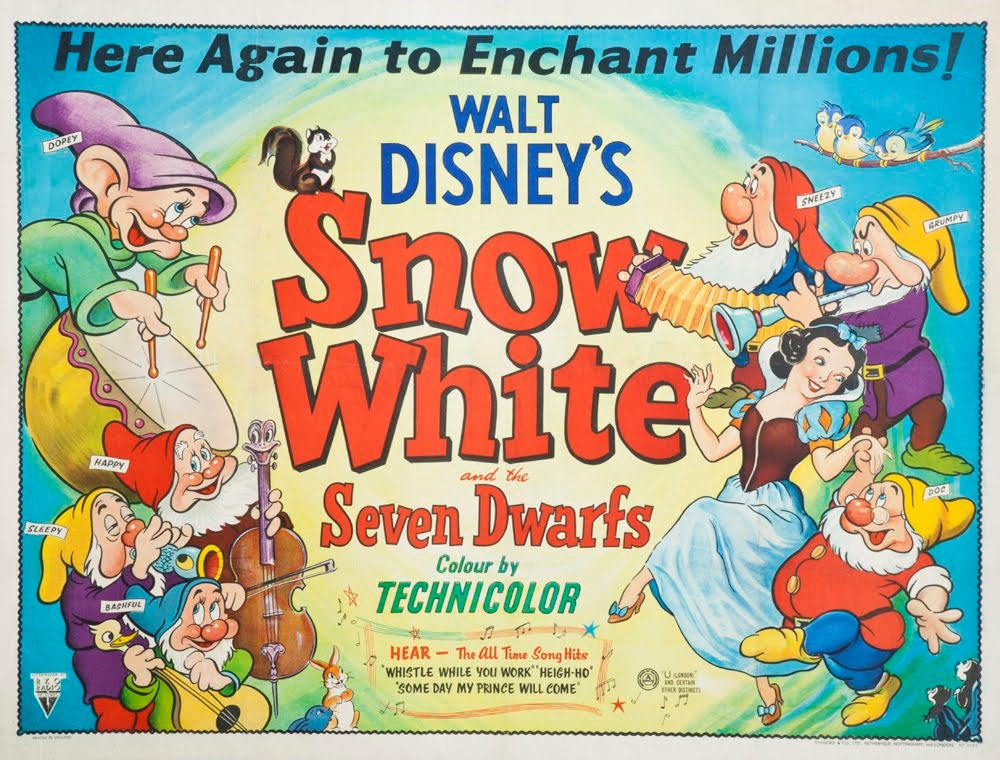 Image result for snow white and the seven dwarfs 1937 poster