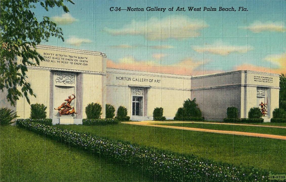 Norton Museum of Art postcard, circa 1941